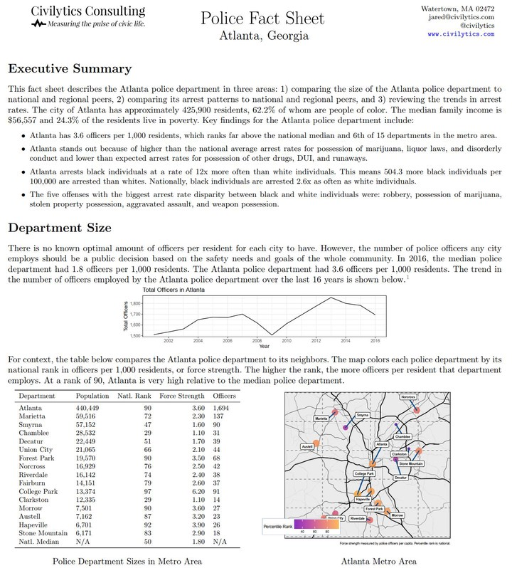 Police Accountability Factsheets